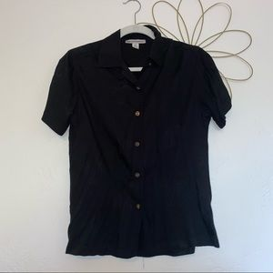 Port Authority collared button up palm tree shirt
